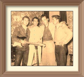 Sonny Curtis, Buddy Holly, Don Guess and Dean Curtis 1956