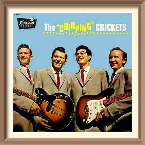 The Crickets First LP 1958: Niki Sullivan, Jerry Allison, Buddy Holly and Joe B Mauldin